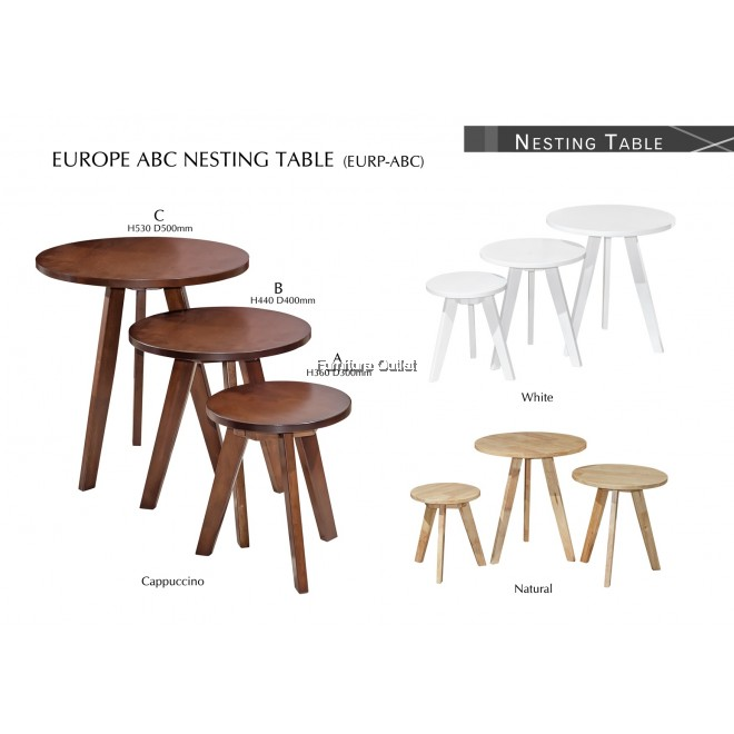 EUROPE ABC NESTING TABLE