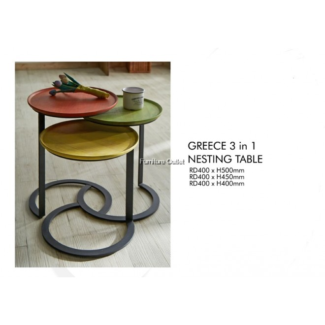 GREECE 3 IN 1 NESTING TABLE