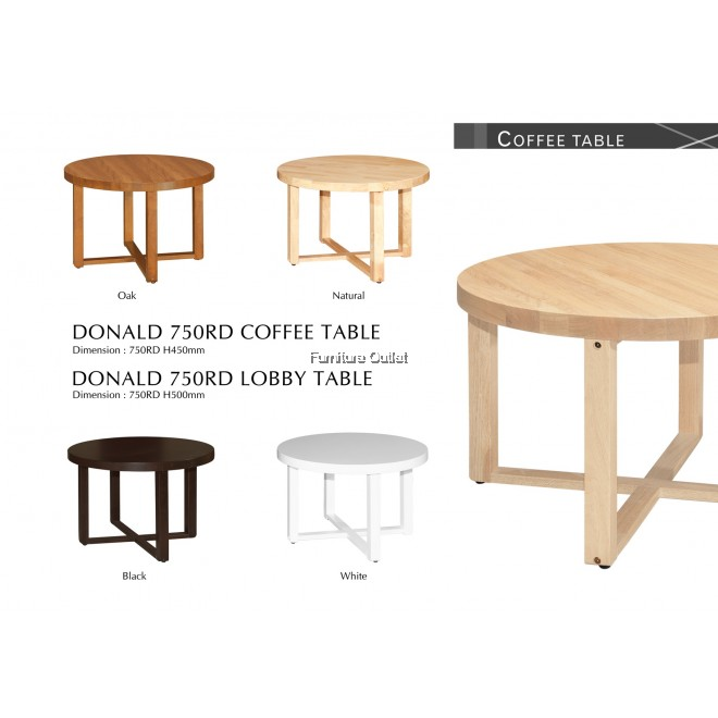 DONALD LOBBY/ COFFEE TABLE + DONALD RD/SQ LAMP(END) TABLE