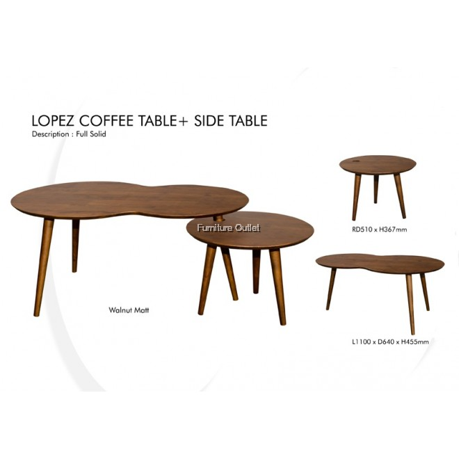 LOPEZ COFFEE TABLE + SIDE TABLE