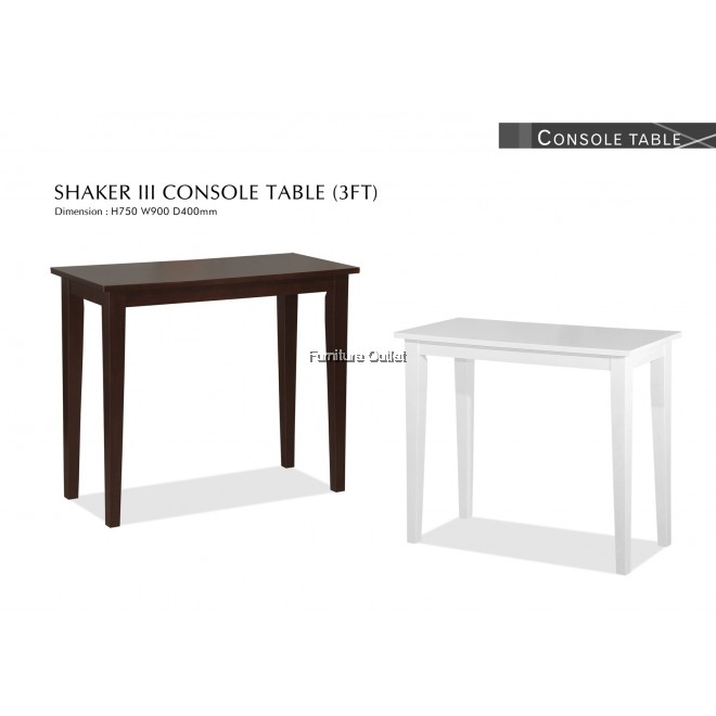 SHAKER III CONSOLE TABLE (3')