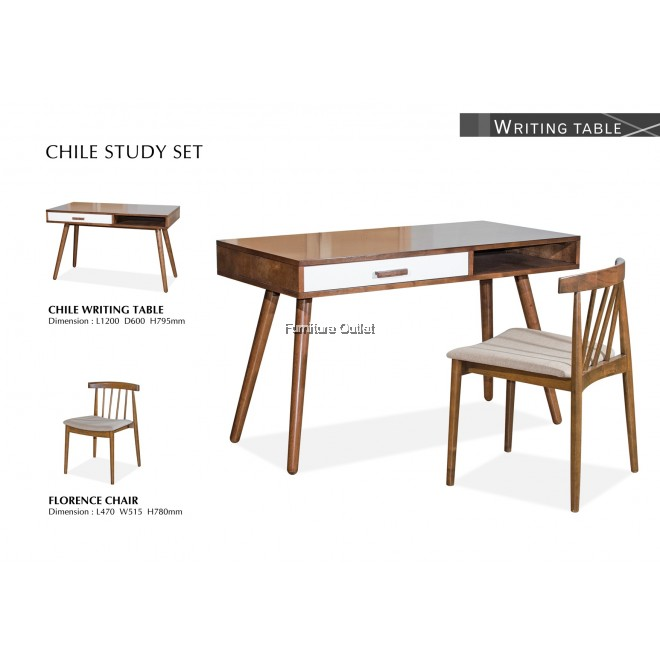 CHILE WRITING TABLE WITH FLORENCE CHAIR