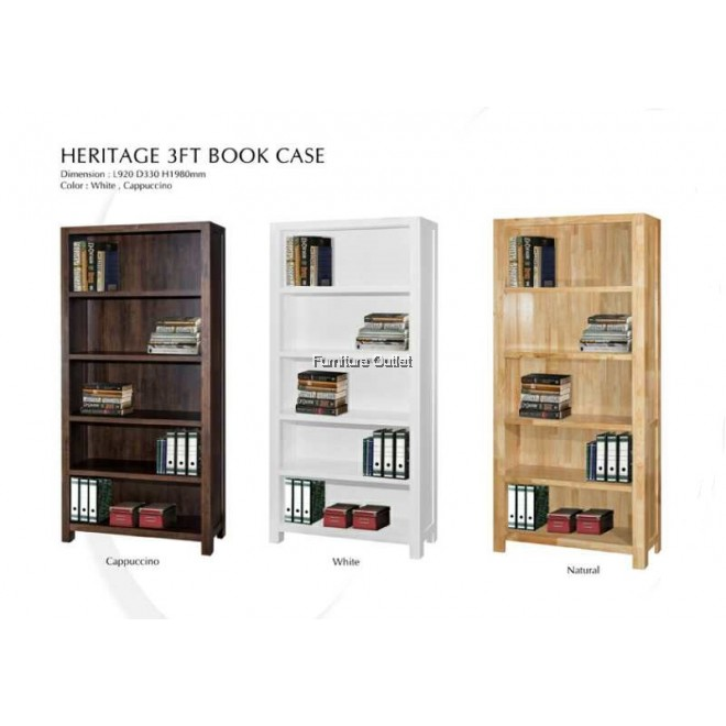 HERITAGE 3' BOOKCASE NATURAL