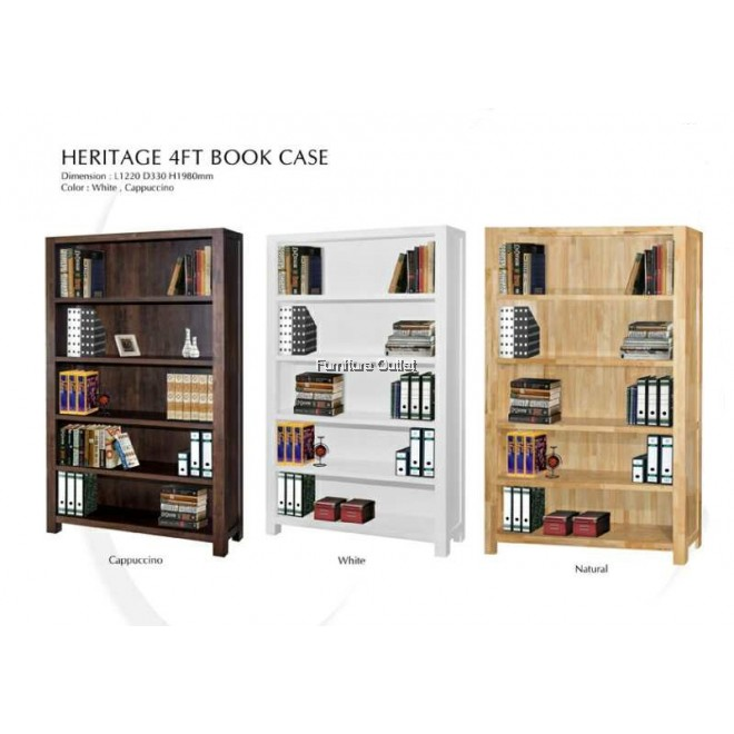 HERITAGE 4' BOOKCASE NATURAL