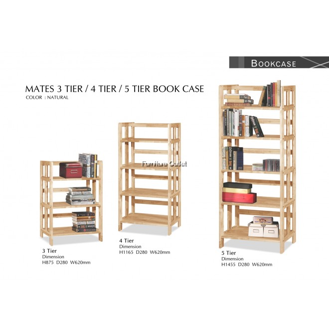 MATES 3+4+5 TIERS BOOK CASE
