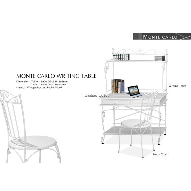 MONTE CARLO WRITING TABLE +CHAIR
