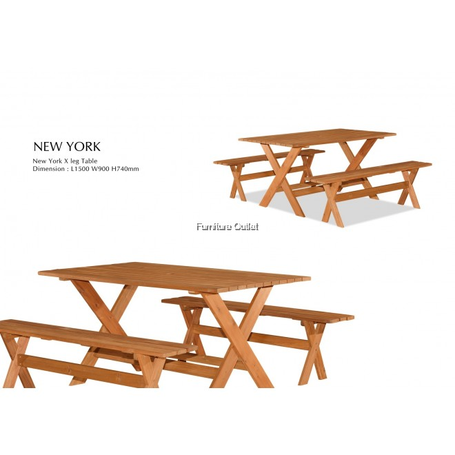 NEW YORK 90X150CM TABLE(X-LEG)