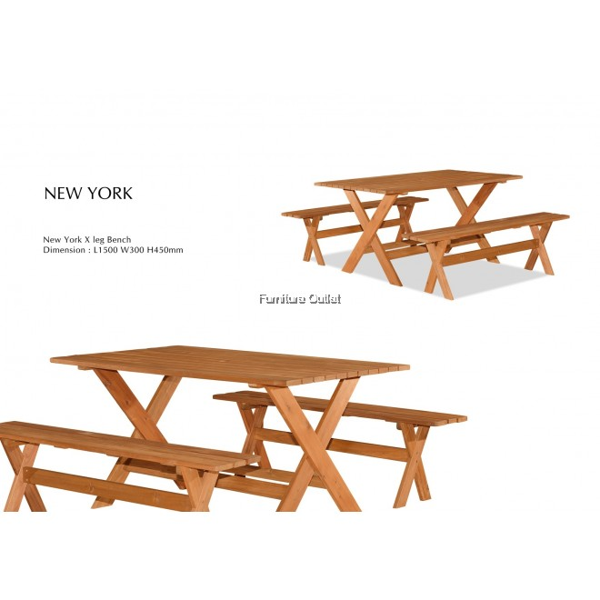 NEW YORK 150CM BENCH(X-LEG)