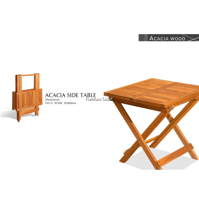 ACACIA SIDE TABLE (50X50CM)