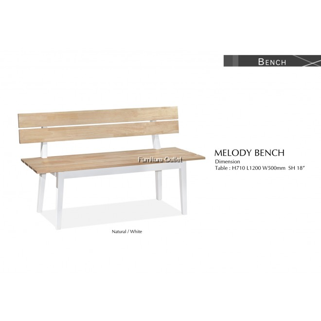 MELODY BENCH(WITH BACKREST)