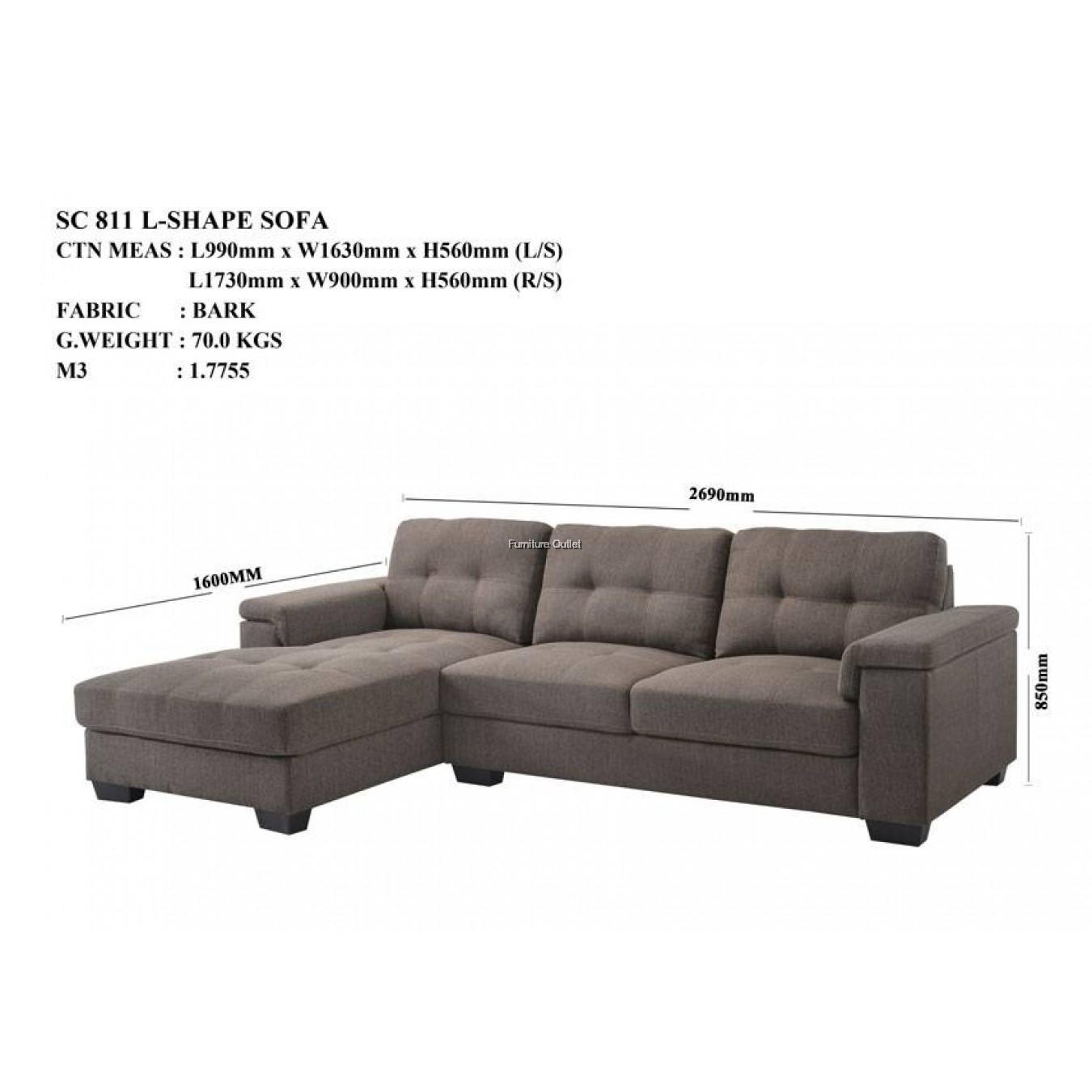 SC 811 L-Shape Sofa