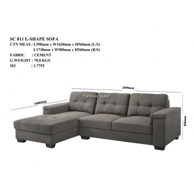 SC 811 L-Shape Sofa