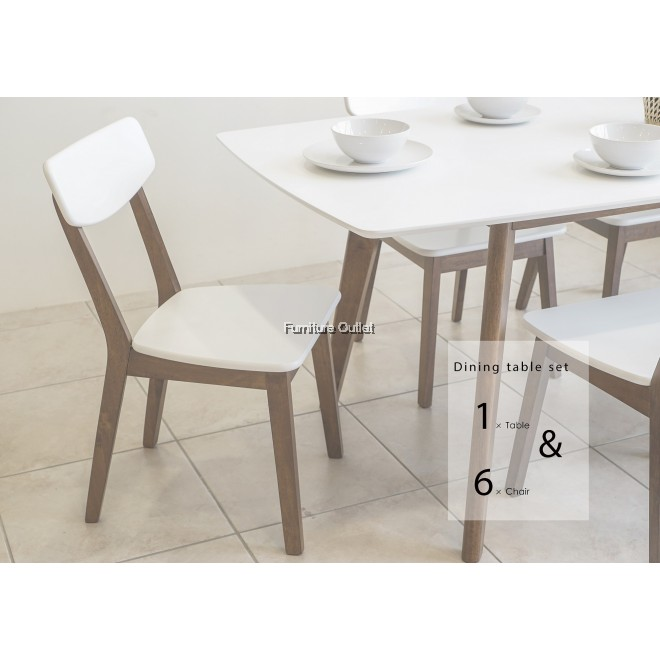 Morocco extension dining set 1+6
