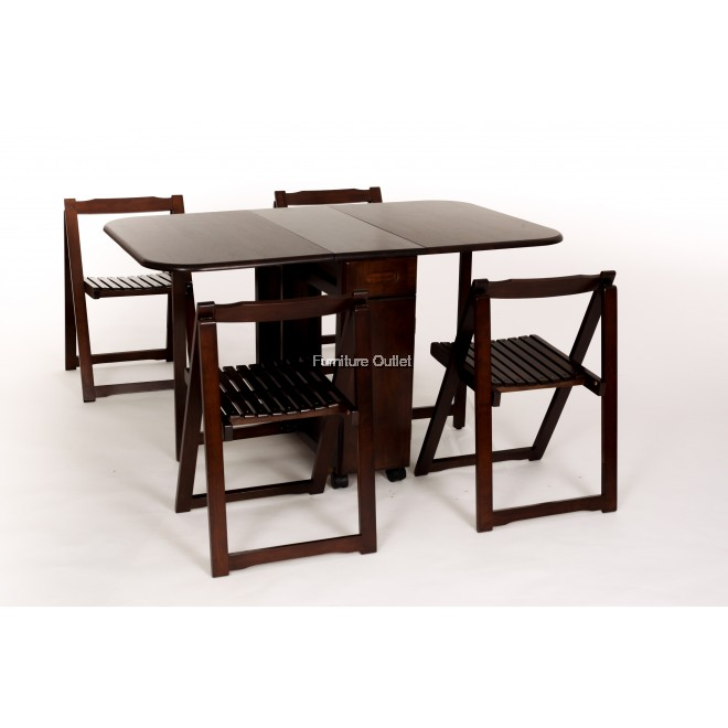 Lisabon Foldable Dining Set 1+4