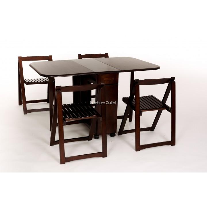 Lisabon Foldable Dining Set 1+4