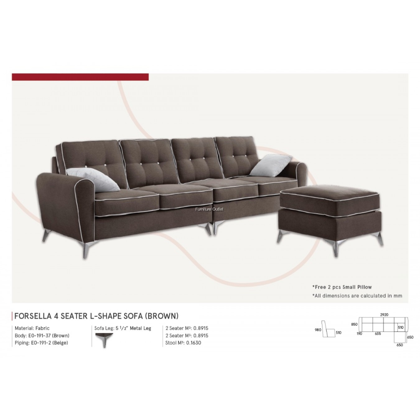 Forsella L-Shape 4 Seater