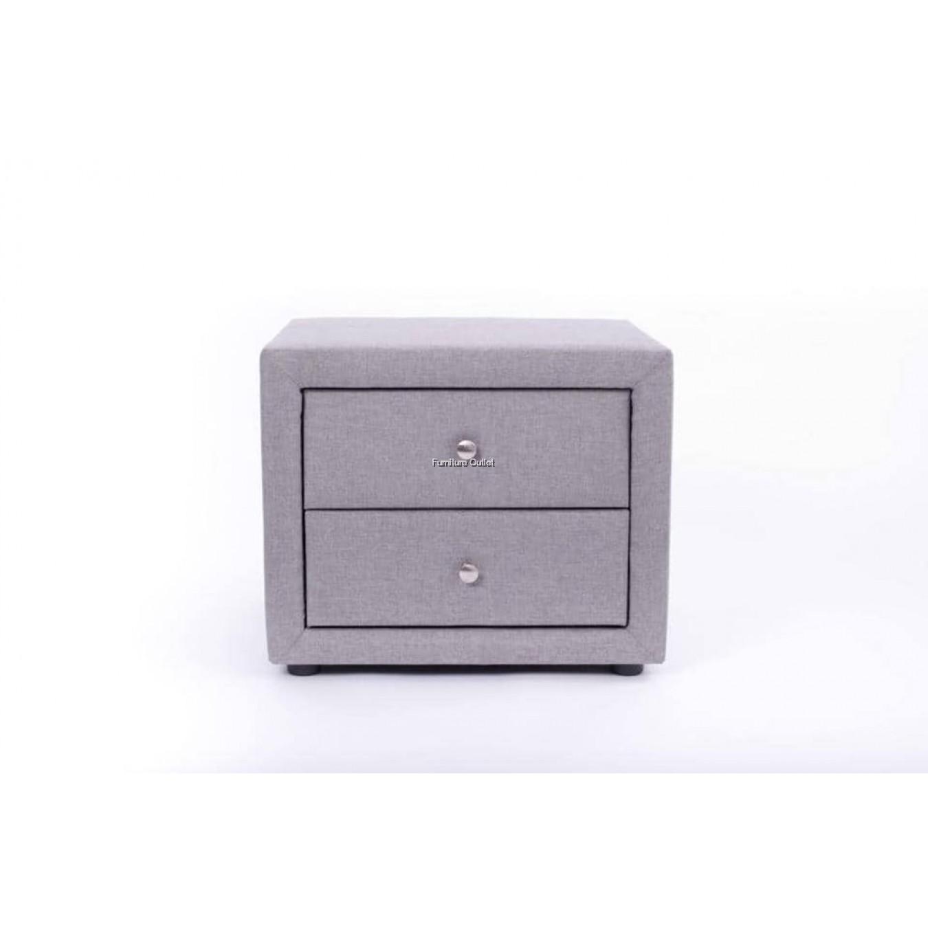 Tribeca King Bed + Velvet Bedside Table + 8'' Rebond Mattress