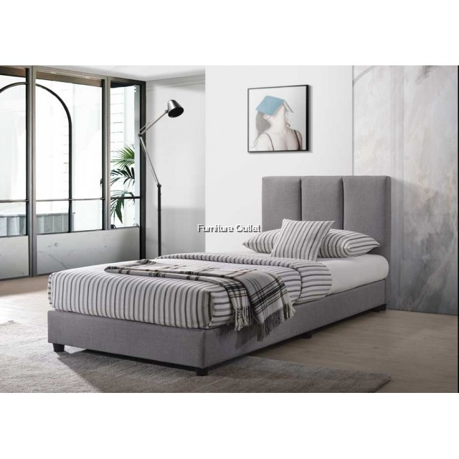 Morocco Super Single Bed + 10'' Spring Mattress
