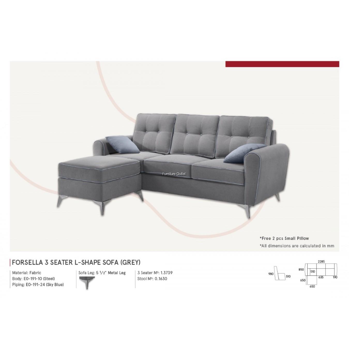 Forsella L-Shape 3 Seater - 2 color