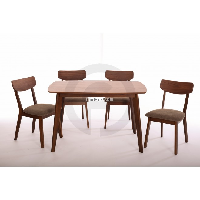 Morocco Dining Set Cushion Beige & Brown ( 1+4 )