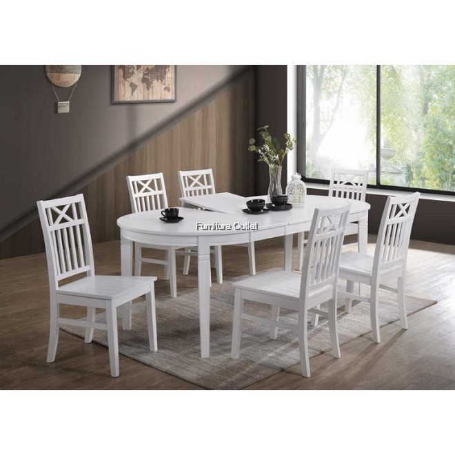 ALICE BUTTERFLY + MOA CHAIR DINING SET 1+6