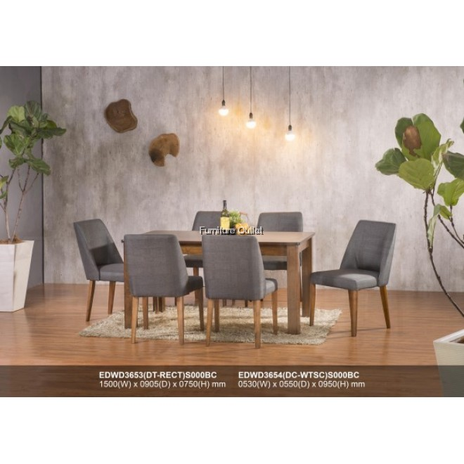 CALVIN DINING SET 1+6