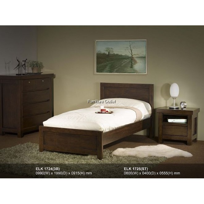 BROWNY 1724 BED - SINGLE or SUPER SINGLE