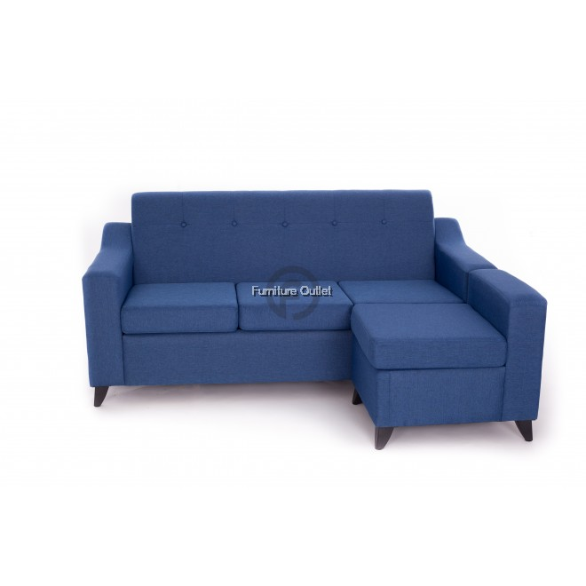 ABBIE SOFA 3 SEATER + 1 STOOL