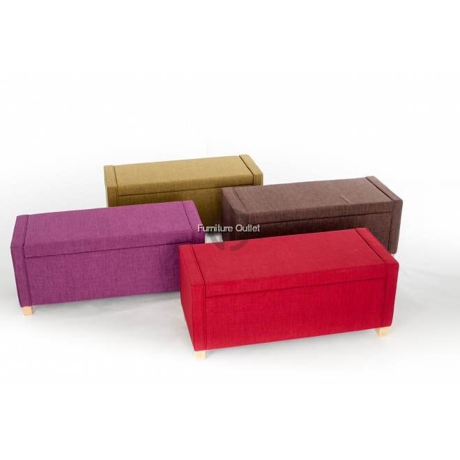 COLORFUL STORAGE BENCH