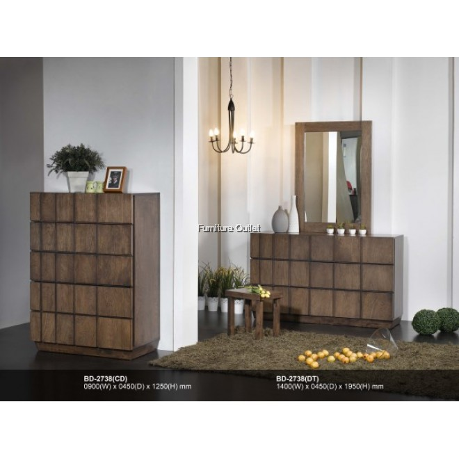 (ED2738) ERIN DRESSING TABLE + MIRROR C/W STOOL