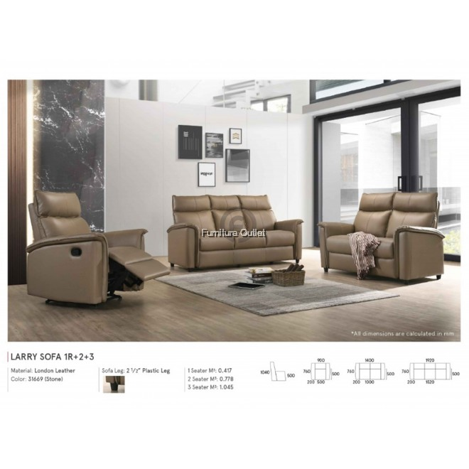 LARRY SOFA - SET / 1 SEATER / 2 SEATER / 3 SEATER
