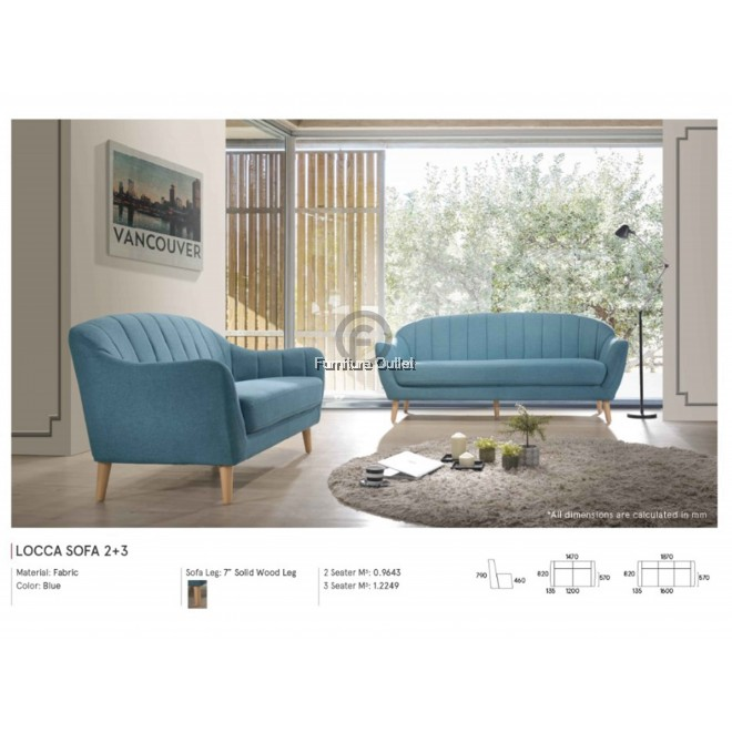 LOCCA SOFA 2+3 SEATER