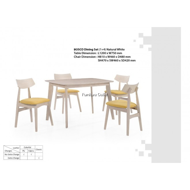 BOSCO DINING SET 1+4