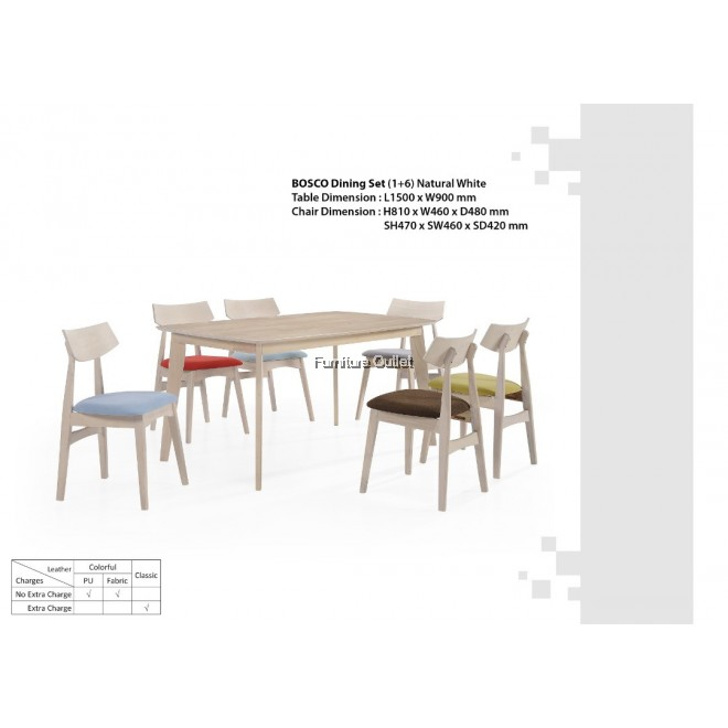BOSCO DINING SET 1+6