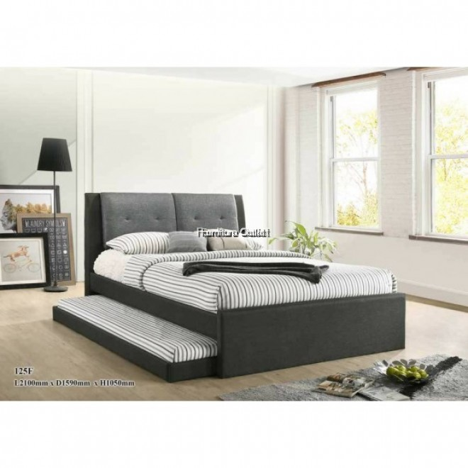 AMELIN GREY + QUEEN MATTRESS + 6'' SINGLE MATTRESS