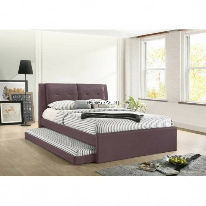 AMELIN BROWN + QUEEN MATTRESS + 6'' SINGLE MATTRESS