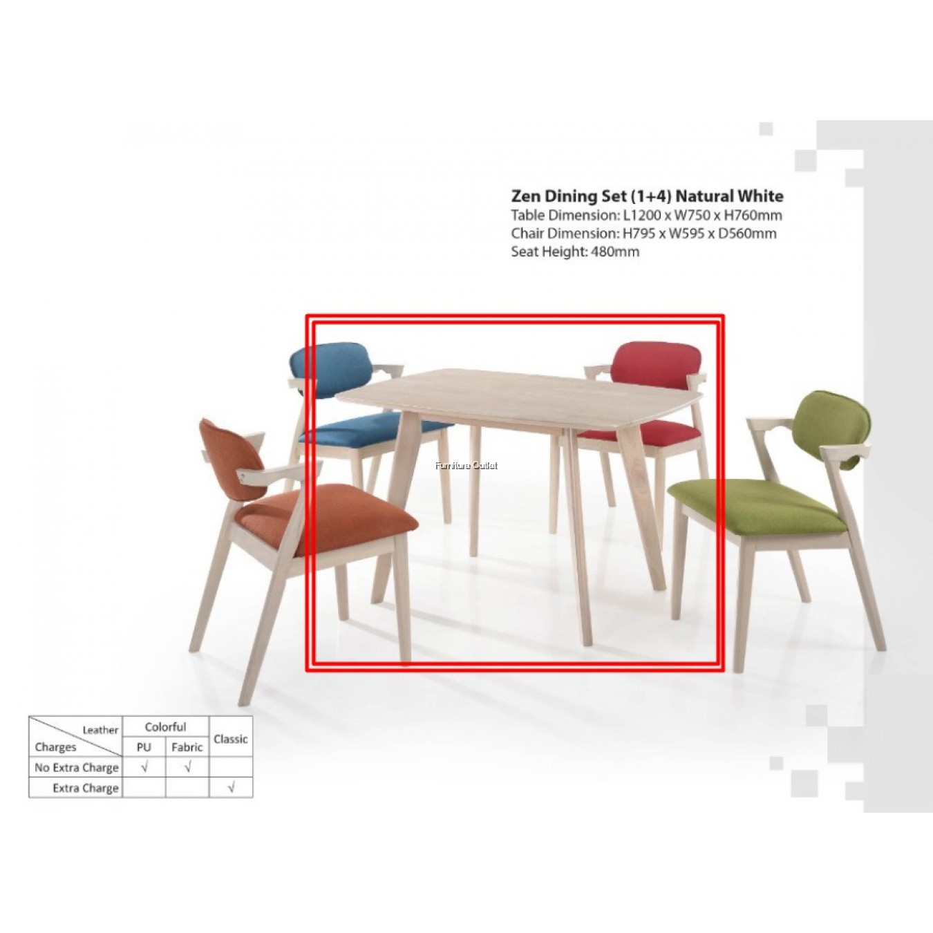 ZEN DINING TABLE - 1200mm OR 1650mm