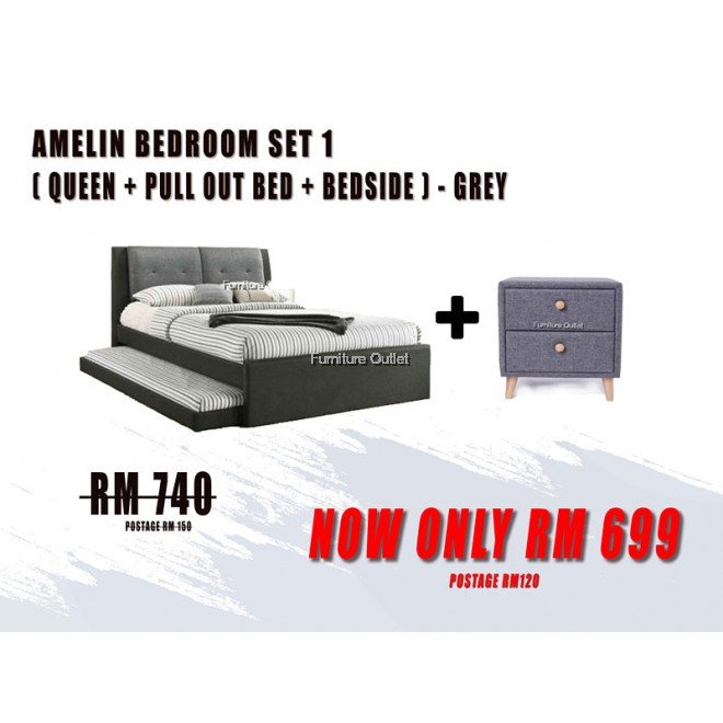 AMELIN PULL OUT BEDROOM SET - 1