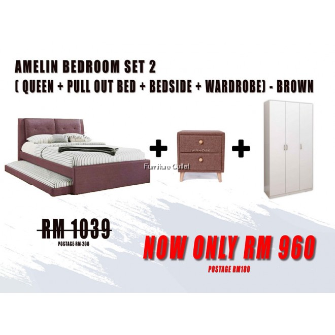 AMELIN PULL OUT BEDROOM SET - 2