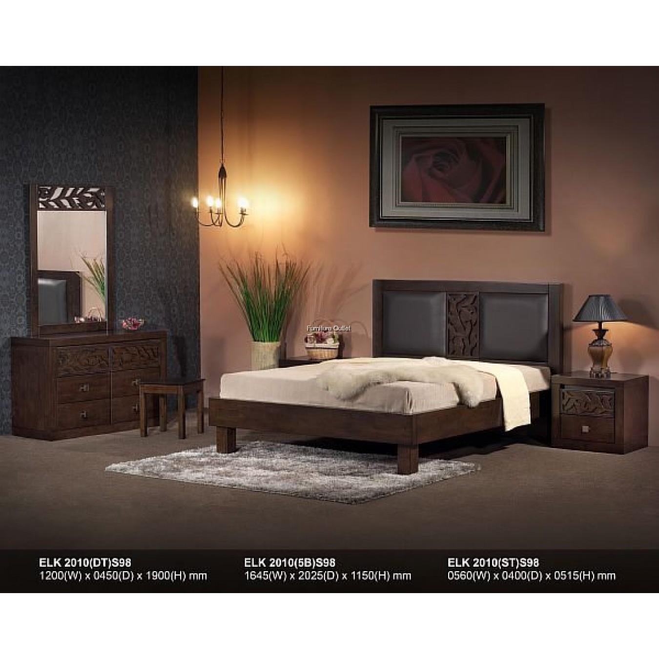 FULL SOLID WOOD BEDROOM SET - 6
