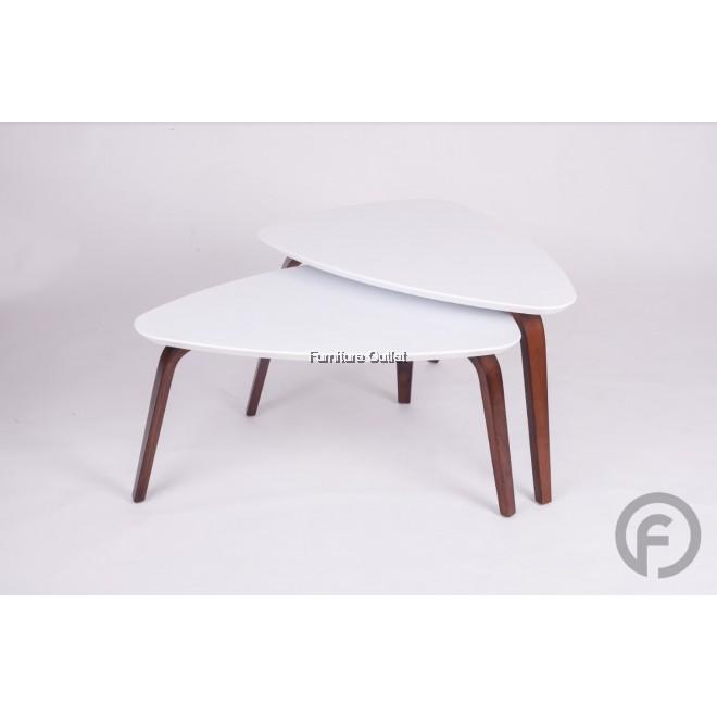 OLIVIA COFFEE TABLE + SIDE TABLE