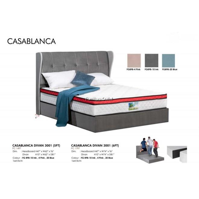 CASABLANCA DIVAN BED 3001 - QUEEN or KING BED ( KATIL QUEEN KATIL KING )