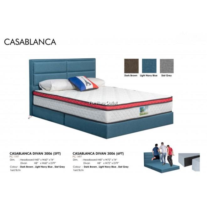 CASABLANCA 3006 DIVAN BED - QUEEN or KING ( KATIL QUEEN KATIL KING )