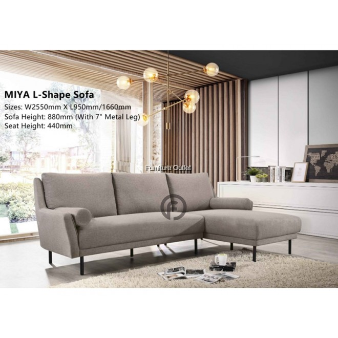 MIYA SOFA - L-SHAPE SOFA 3 SEATER