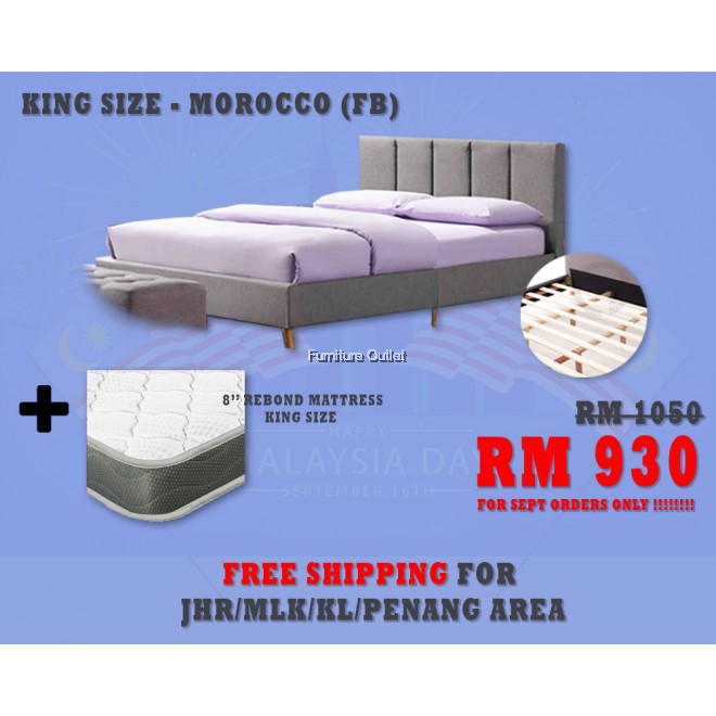 ( FREE SHIPPING - SEPT PROMOTION) - MOROCCO + MATTRESS 8""