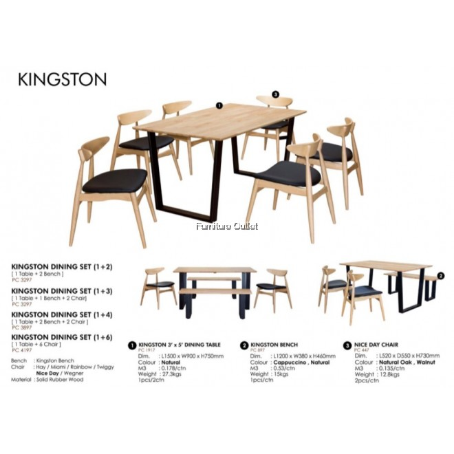 KINGSTON DINING (1+2)