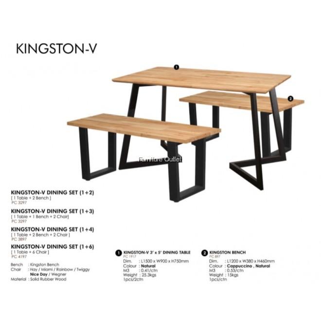KINGSTON-V DINING SET (1+2)