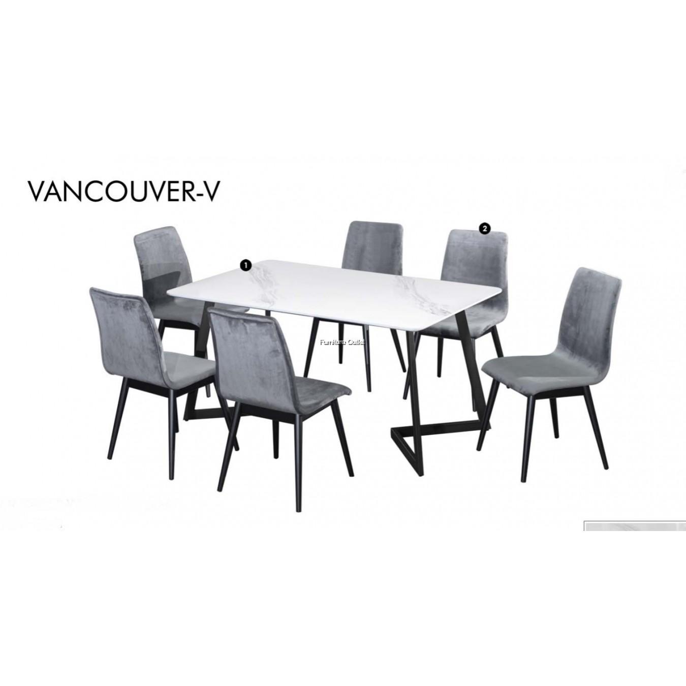 VANCOUVER-V DINING SET (1+1+2) / (1+6)
