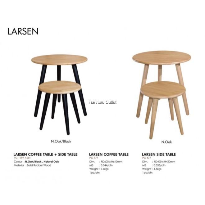 LARSEN COFFEE TABLE + SIDE TABLE