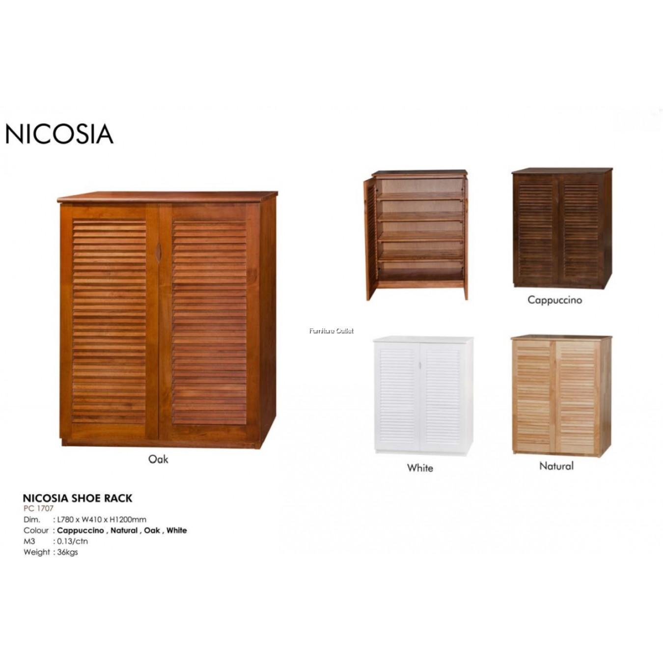 NICOSIA SHOE RACK - CAPPUCCINO / WHITE / NATURAL / OAK